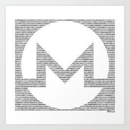 Binary Monero Art Print