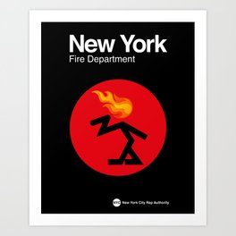 007 NEW YORK Fire Dept. - Edition_1 Art Print