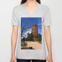 Desert View Watchtower - South Rim Grand Canyon Unisex V-Neck