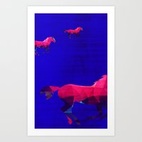 horses Art Prints featuring Horses by Cullen Rawlins