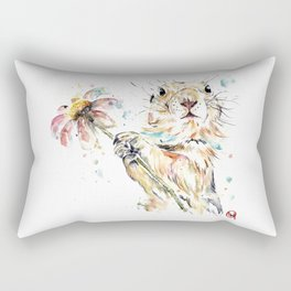 Gopher Colorful Watercolor Painting Rectangular Pillow