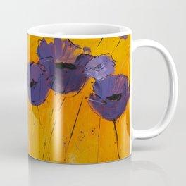 Purple Poppies Coffee Mug