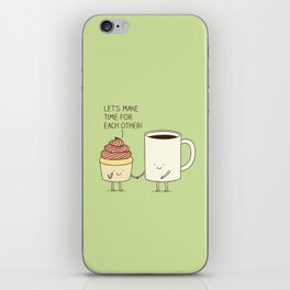 Let's make time for each other! iPhone Skin