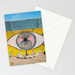 The End in Yucca Valley Stationery Cards