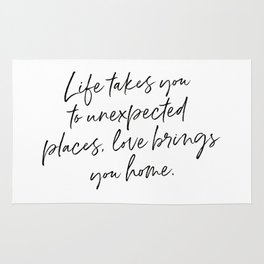Life Quote Art Rug