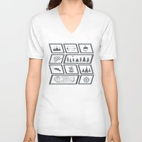 camping V-neck T-shirts featuring Camping by Corina Rivera Designs