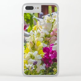 Summer Solstice Mix Snapdragons 1 Clear iPhone Case