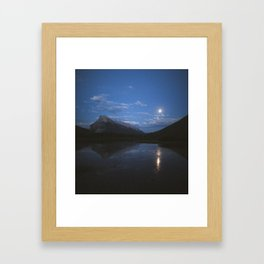 Full Moon Over Vermillion Lakes | Banff National Park, Alberta, Canada | John Hill Photography Framed Art Print