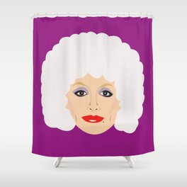 Dolly Parton - cartoon style portrait Shower Curtain