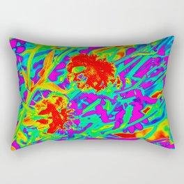 Psychedelic flower garden Rectangular Pillow