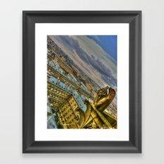 Gargoyle of the Notre Dame, Paris, France Framed Art Print