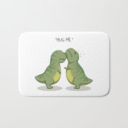 T-Rex Hugs Bath Mat