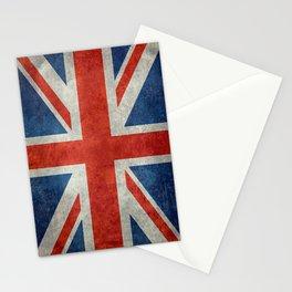 """UK Union Jack flag """"Bright"""" retro grungy style Stationery Cards"""