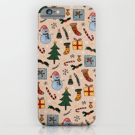 Christmas Holiday Pink iPhone Case