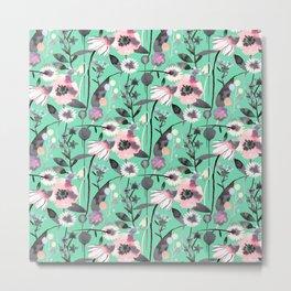 Mint spring flowers Metal Print