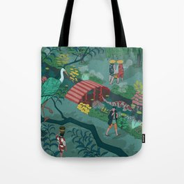 Ukiyo-e tale: The beginning of the trip Tote Bag
