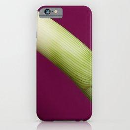 Leek on pink iPhone Case