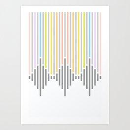 Dynamic Stripes 2 Art Print