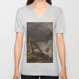 Storm in the Mountains by Frederic Edwin Church, 1847  Unisex V-Neck