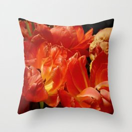 Parrot Tulips bouquet Close up X Throw Pillow