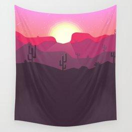 Pink Desert Wall Tapestry
