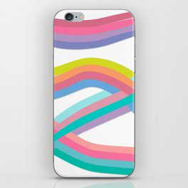 Wavy Eight White iPhone Skin