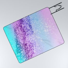 Unicorn Girls Glitter #14 #shiny #decor #art #society6 Picnic Blanket
