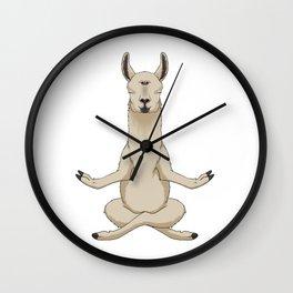 Meditation Llama with Third Eye Wall Clock
