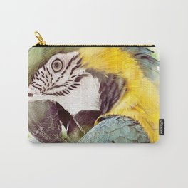 Magical Parrot - Guacamaya Variopinta - Magical Realism Carry-All Pouch