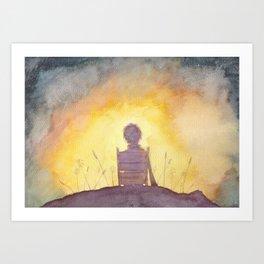 47 Sunsets Art Print
