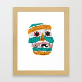 Stripy Skull  Framed Art Print