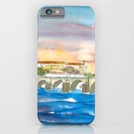 Charles Bridge And Prague Castle View with Hradcin iPhone Case