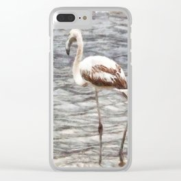 Find Your Footing And Stand Firm Watercolor Clear iPhone Case