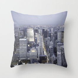 NYC from Empire State Building Throw Pillow
