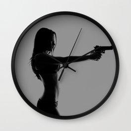 Girls love guns Wall Clock