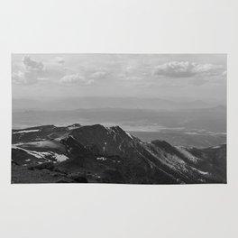 Pikes Peak, Colorado - Black and White Rug