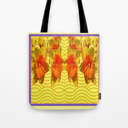 Golden Daffodils Pattern Tote Bag