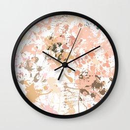 Skin Tones - Liquid Makeup Foundation - on White Wall Clock