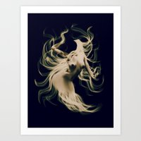 goddess Art Prints featuring Goddess  by    Amy Anderson