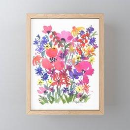 Little Pink Poppies Framed Mini Art Print