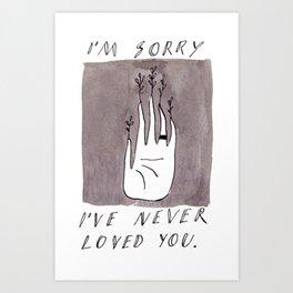 Confession Art Print