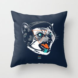 Stereocat Throw Pillow