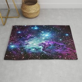 Fox Fur Nebula : Purple Teal Galaxy Rug