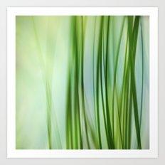 Vertical Grasses Art Print