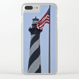 America Hatteras light Clear iPhone Case