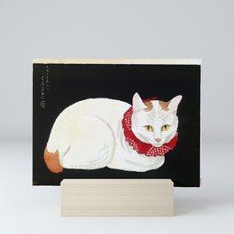 Takahashi Shōtei White Cat Mini Art Print