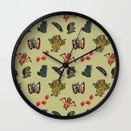 Kaiju Party Wall Clock