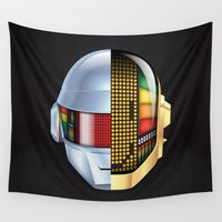 daft punk Wall Tapestries featuring Daft Punk - Discovery by Hayes Johnson
