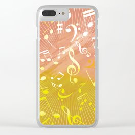 Musical Notes VI Clear iPhone Case
