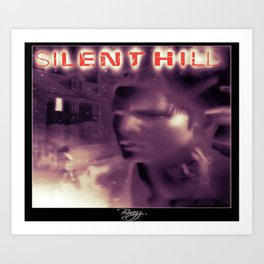 Silent Hill 1 - Ps1 Art Box Cover (NA Version) - Brazz Art Print